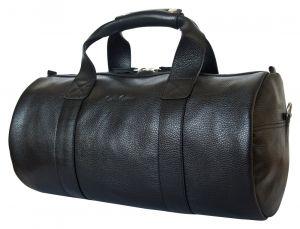 Кожаная дорожная сумка Dossolo black
