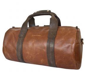 Кожаная дорожная сумка Dossolo cog/brown