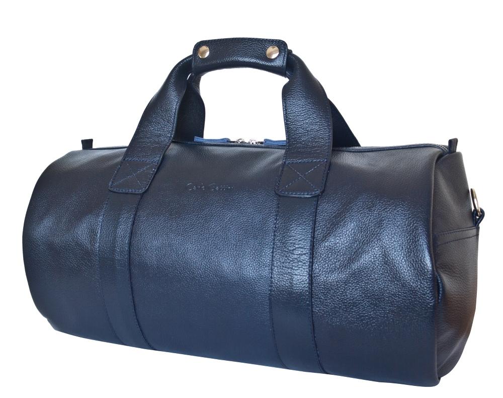 f5b940bc1190 Кожаная дорожная сумка Dossolo dark blue от Carlo Gattini