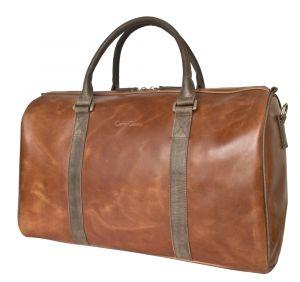 Кожаная дорожная сумка Noffo cog/brown