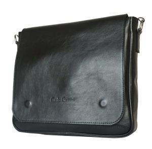 Кожаная мужская сумка Bolviso black