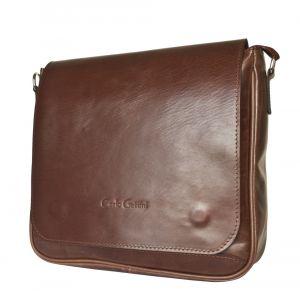 Кожаная мужская сумка Bolviso brown