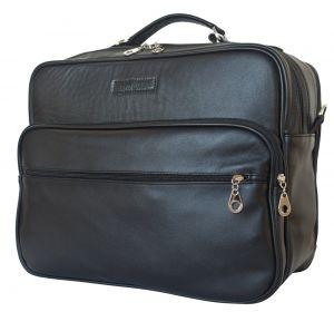 Кожаная мужская сумка Palotto black