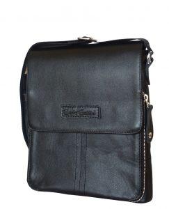 Кожаная мужская сумка Volano black