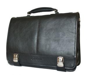 Кожаный портфель Arietta black