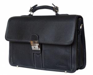 Кожаный портфель Feudo black