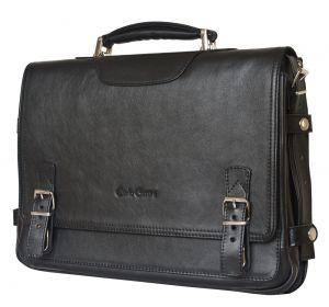 Кожаный портфель Realdo black