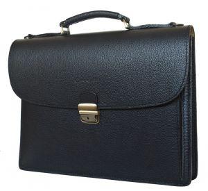 Кожаный портфель Valcavo black