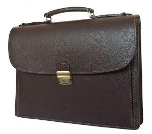 Кожаный портфель Valcavo brown