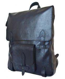 Кожаный рюкзак Arma dark blue