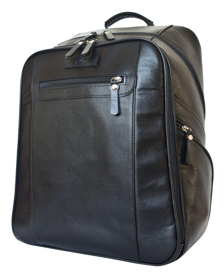 Кожаный рюкзак Cossira black