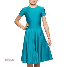 Платье из бифлекса для танцев, бирюзовое