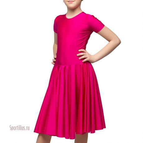 Платье из перламутрового бифлекса, малиновое