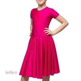 Платье из бифлекса для танцев, малиновое