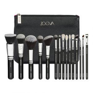 Кисти для макияжа Zoeva 15 шт - набор BLACK