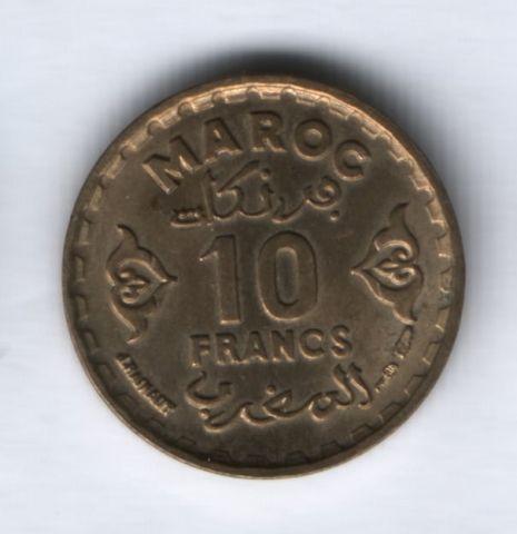 10 франков 1952 года Марокко XF+