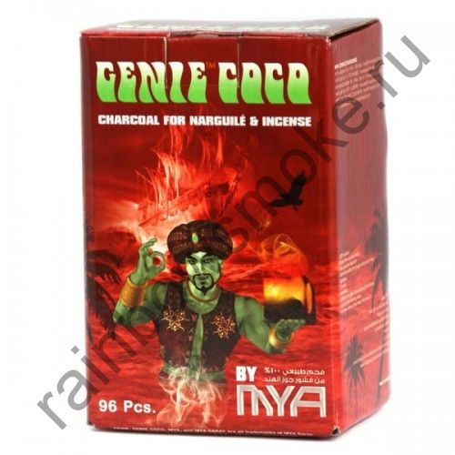 Уголь кокосовый для кальяна Mya Genie Coco (96шт)