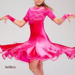 Платье для танцев, розовое