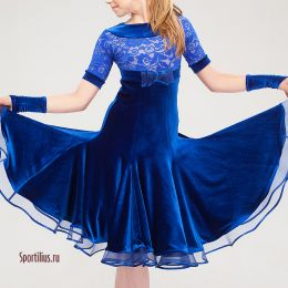 """Платье для танцев """"Неаполь"""", синее"""