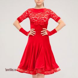 """Платье для танцев """"Неаполь"""", красное"""