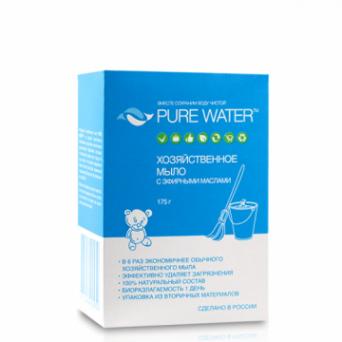 Pure Water - Хозяйственное мыло с эфирными маслами 175 г
