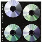 Страничка(пакет) конверт для 8 CD/DVD черная /100/