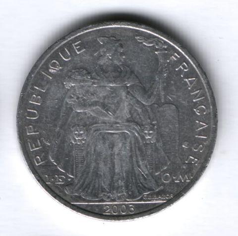 5 франков 2003 года Новая Каледония