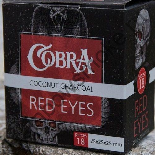 Уголь кокосовый для кальяна Cobra Red Eyes (18шт)