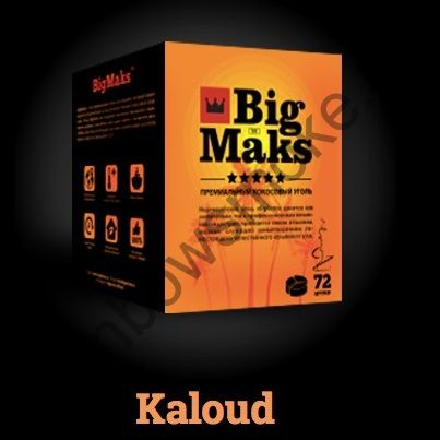 Уголь кокосовый для кальяна Big Maks Kaloud (72шт)