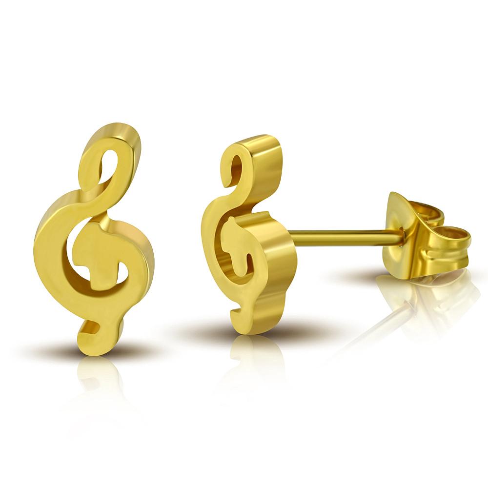 Серьги-Скрипичный ключ