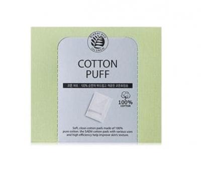 THE SAEM Спонжи косметические из 100% хлопка Cotton Puff 20шт