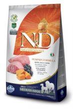 Фармина N&D Dog Pumpkin ягненок с черникой и тыквой для взрослых собак средних и крупных пород 12 кг