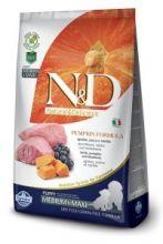 Фармина N&D Dog Pumpkin ягненок с черникой и тыквой для щенков средних и крупных пород 12 кг