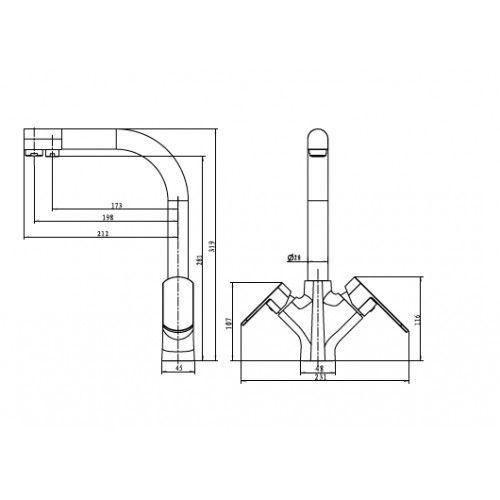 Kaiser Arena 33066 Смеситель для кухни с выходом под фильтр