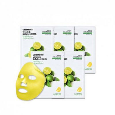 EYENLIP Маска для лица тканевая витаминная The Saem Calamansi VITAMIN SOLUTION MASK 25мл