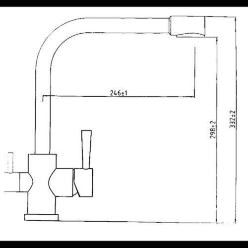 Kaiser Merkur 26044-5 Silver Смеситель для кухни под фильтр однорычажный