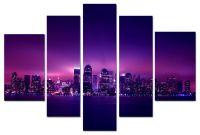 Модульная картина Ночной мегаполис
