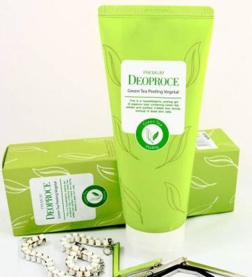 Пилинг- скатка на основе зеленого чая PREMIUM DEOPROCE GREEN TEA PEELING VEGETAL 170g
