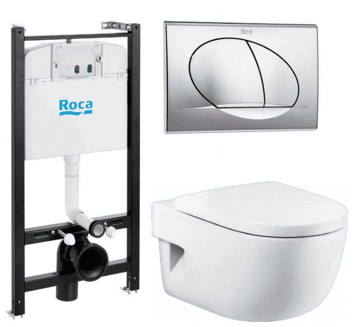 Унитаз Roca Meridian 893104110 (с инсталяцией и сиденьем, микролифт)