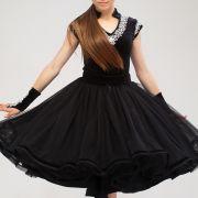 платье для танцев с кружевом