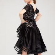 Белиссимо черное эффектное платье для танцев