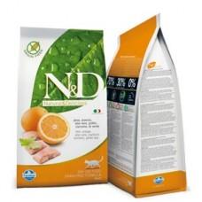 Фармина N&D Cat GF рыба с апельсином корм для взрослых кошек, 10 кг