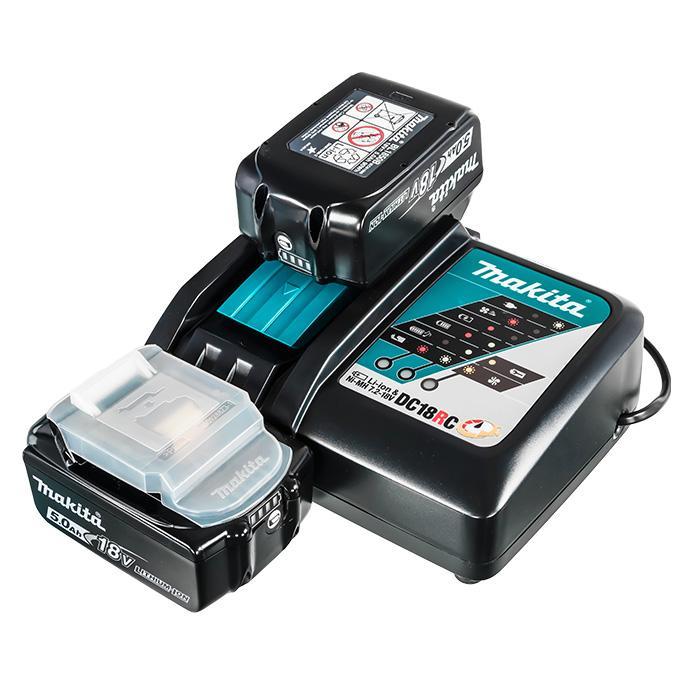 Зарядное устройство Makita набор MAKPAC (2 шт BL1850B + ЗУ DC18RC)