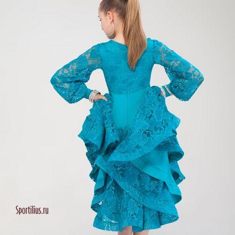 бирюзовое рейтинговое платье Престиж