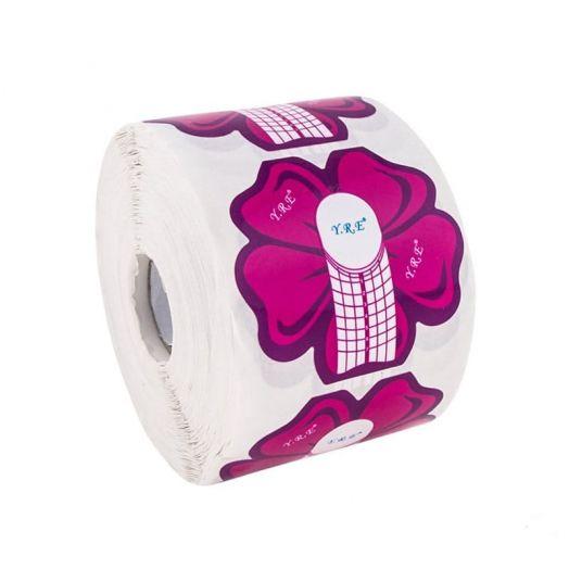 ФОРМЫ для ногтей широкие 500 шт, розовый цветочек