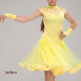 """Рейтинговое платье """"Шик"""", желтое"""