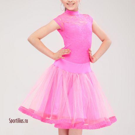 """Платье для бальных танцев """"Шик"""" малиновое"""
