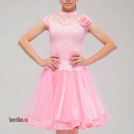 """Платье для бальных танцев """"Шик"""" розовое"""