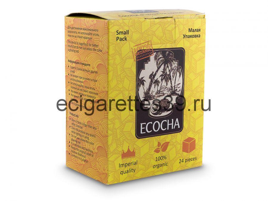 Уголь для кальяна кокосовый Ecocha 24 шт.