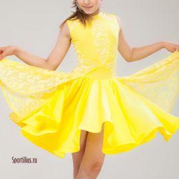 Бальное платье, желтое